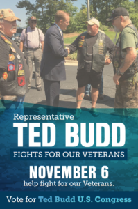 Mail piece supporting Rep. Ted Budd (R-N.C.)